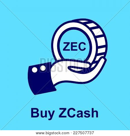 Design Concept Of Cryptocurrency Technology. Exchange - Buy Zcash.