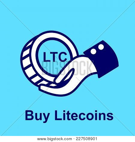 Design Concept Of Cryptocurrency Technology. Exchange - Buy Litecoins.