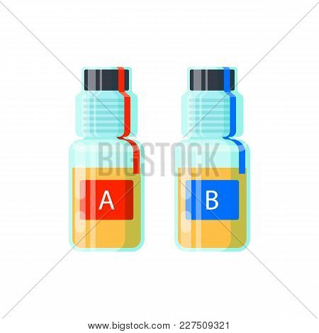Two Urine Test Tubes For Analysis Of Doping - Probe A And B, Sealed Proofs For Anti-doping Control -