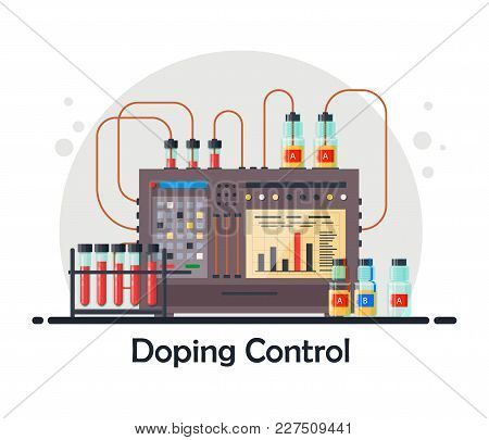 Anti-doping Laboratory For Blood, Urine Tests, Medical Equipment For Analysis And Doping Control Wit