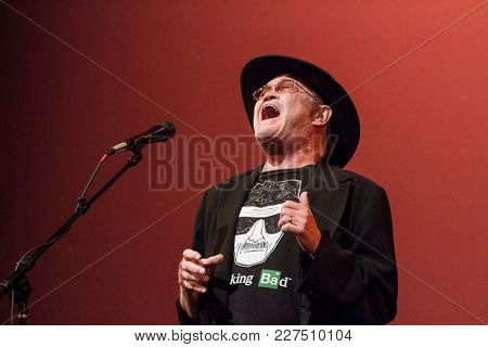 Micky Dolenz performs at the Wild Honey Orchestra and Friends tribute to Buffalo Springfield all-star concert at the Alex Theatre in Glendale, CA on Feb. 17, 2018.