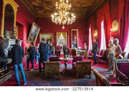 St. Petersburg, Russia - August 26, 2017: Interior Of Vladimir Palace. It  Was The Last Imperial Pal