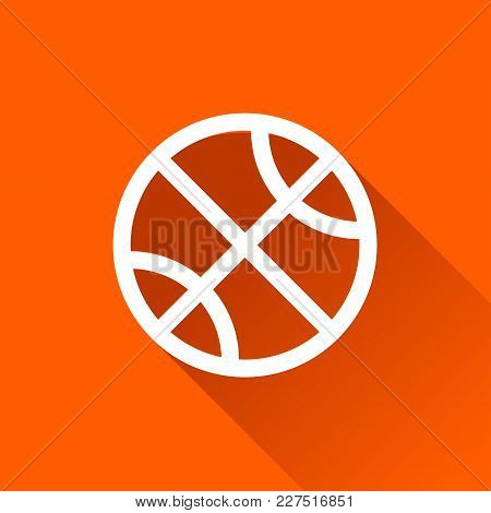 Illustration Of Basket Ball Icon With Shadow