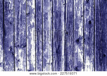 Grungy Wooden Wall Background In Blue Color. Abstract Background And Texture For Design.
