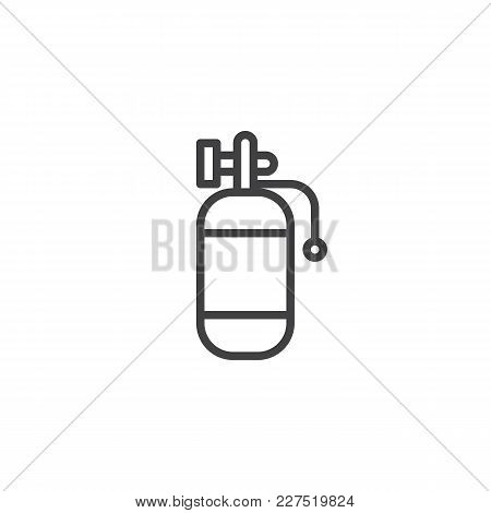 Air Tank Outline Icon. Linear Style Sign For Mobile Concept And Web Design. Diving Cylinders Simple