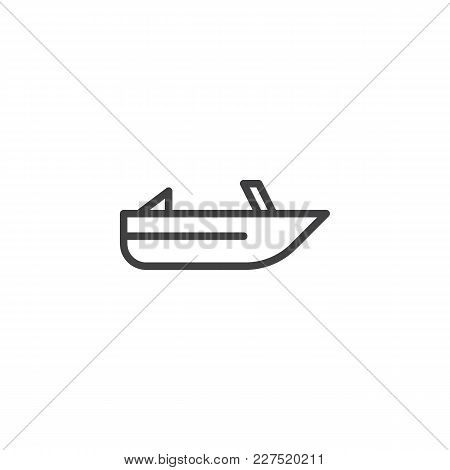 Roofless Speed Boat Outline Icon. Linear Style Sign For Mobile Concept And Web Design. Pleasure Boat