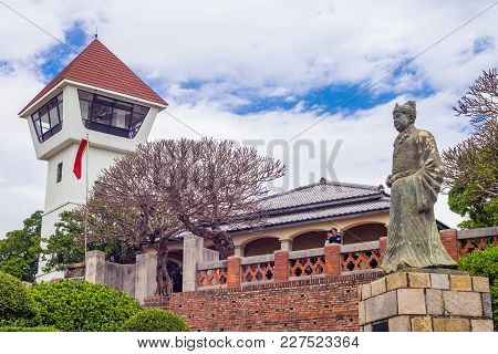 Anping Fort  And Statue Of Koxinga In Tainan, Taiwan