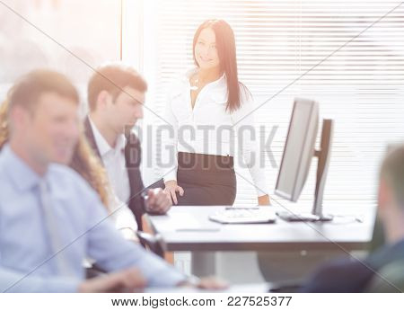 Manager and business team workplace