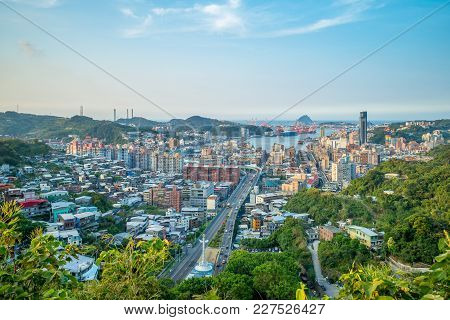 Cityscape Of Keelung City In North Taiwan