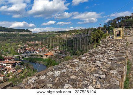 Veliko Tarnovo, Bulgaria - 9 April 2017: Ruins Of The Capital City Of The Second Bulgarian Empire Me