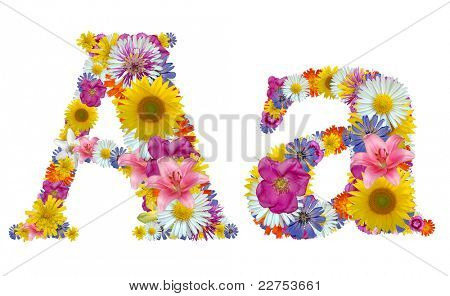 alphabet of flowers