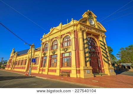 York, Australia - Dec 25, 2017: York Town Hall, Avon Valley, 97 Kilometres East Of Perth, Heritage L