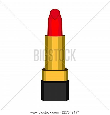 Lipstick Icon. Love And Gifts For Web On White Background. Flat Vector Illustration