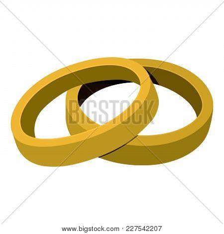 Ring Icon. Love And Gifts For Web On White Background. Flat Vector Illustration