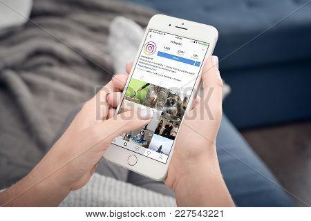 Apple Iphone 8 Plus With Instagram Profile