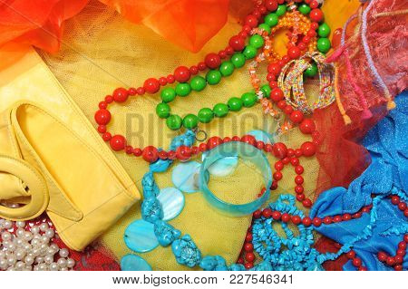 Fashion accessory.  Color beads