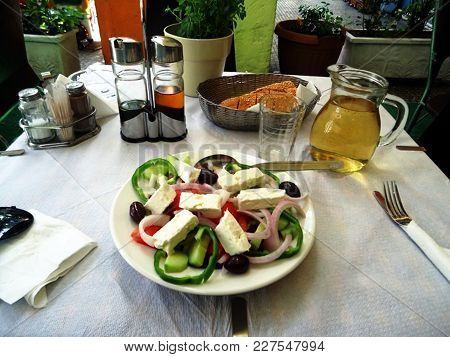 A Delicious And Typical Greek Lunch In Athens