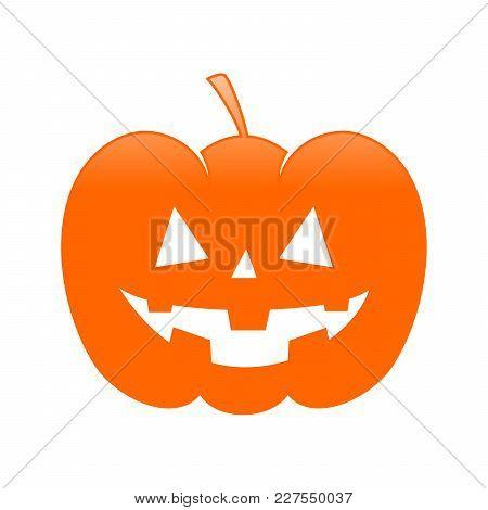Classic Halloween Evil Jack O Lantern Pumpkin Symbol Vector Graphic Design