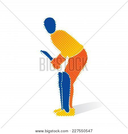 Cricket Player Ready For Hitting Big Shoot  Concept Design