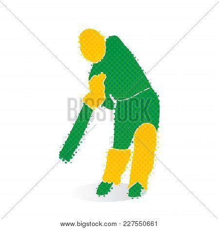 Cricket Player Hitting Big Shoot Concept Design