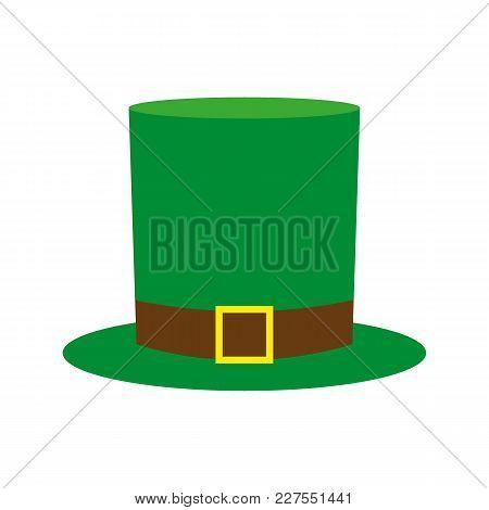 Cylinder Hat Leprechaun Leaf For St. Patrick Vector Illustration