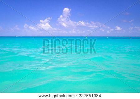 Beautiful lagoon of Caribbean sea, Mexico
