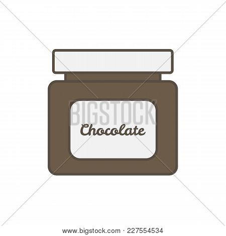 Chocolate Jar Isolated On White Background. Vector Stock.