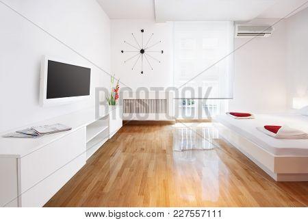 Modern Hotel Room Or Studio Flat Living Room Or Bedroom