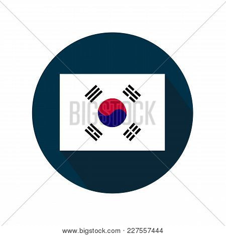 Flag Of South Korea Icon On White Background