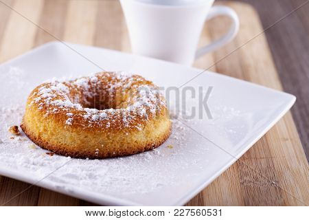 Donut With White Cup On The Back