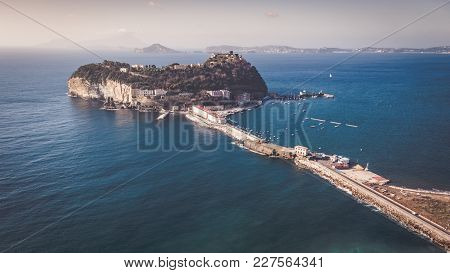 View Of The Island Of Nisida In Campania From The Virgiliano Park