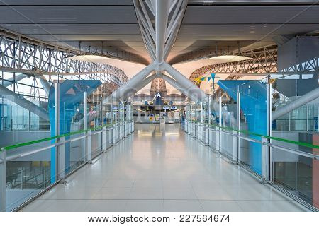 Osaka,japan-nov 30: Interior Of The Kansai International Airport On November 30,2016. Kansai Interna