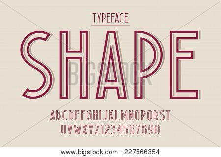 Decorative Vintage Typeface, Font, Typeface, Typography Design Vector Characters Set