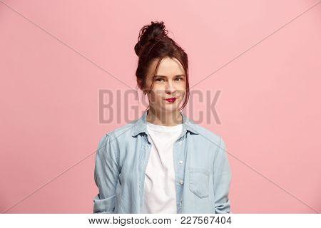Suspicion. Doubt, Mistrust, Distrust Concept. Doubtful Woman Looking With Disbelief Expression . You