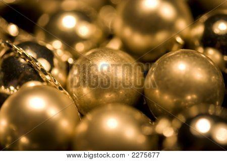 Gold Glossy And Matt Balls