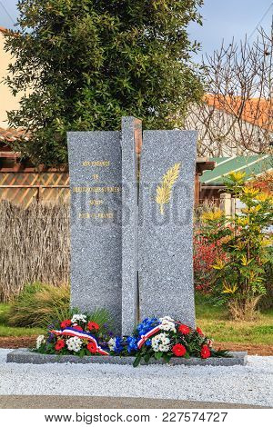 Inauguration Of A Monument Of The Dead Veterans Of The City For France