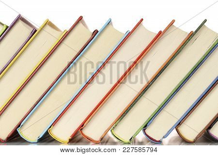 Close Up Of A Row Of Colorful Books