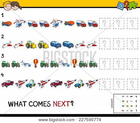 Complete The Pattern With Vehicles Game