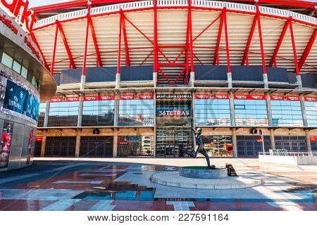 Lisbon , Portugal - February 10: Sport Lisboa E Benfica, A Premier League Portuguese Sports Club Bas