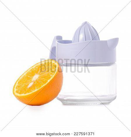 Juicer Orange Juice On White Background Isolation