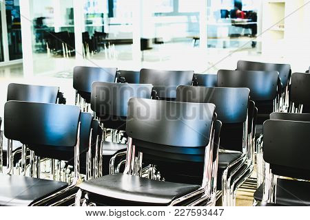 Empty Chairs In Business Or Waiting Room