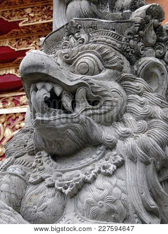 Carved Stone Creature, Taken In Bali Area