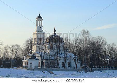 View Of The Church St. Alexander Nevsky In Ust-izhora, Winter,