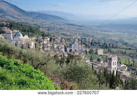 View Of Assisi From La Rocca