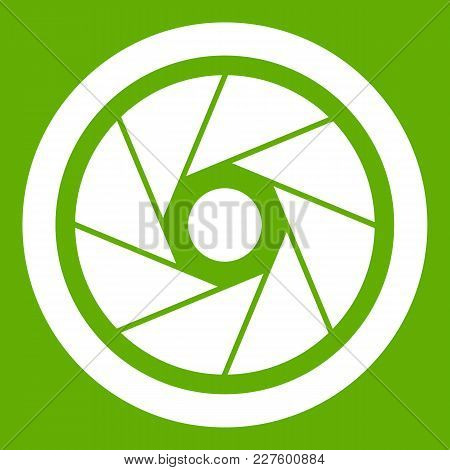 Small Objective Icon White Isolated On Green Background. Vector Illustration