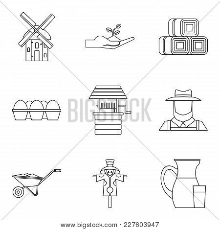 Suburban Icons Set. Outline Set Of 9 Suburban Vector Icons For Web Isolated On White Background