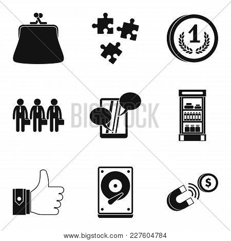 Gain Icons Set. Simple Set Of 9 Gain Vector Icons For Web Isolated On White Background
