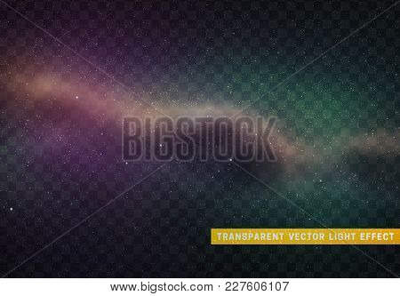 Universe Cosmic Space Nebula With Bright Stars Planets And Galaxy. Outer Starry Background