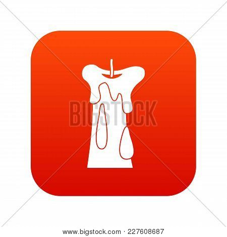 Long Candle Icon Digital Red For Any Design Isolated On White Vector Illustration