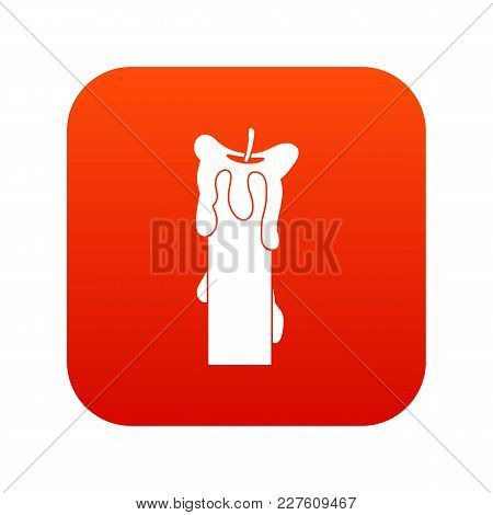 Extinguished Candle Icon Digital Red For Any Design Isolated On White Vector Illustration